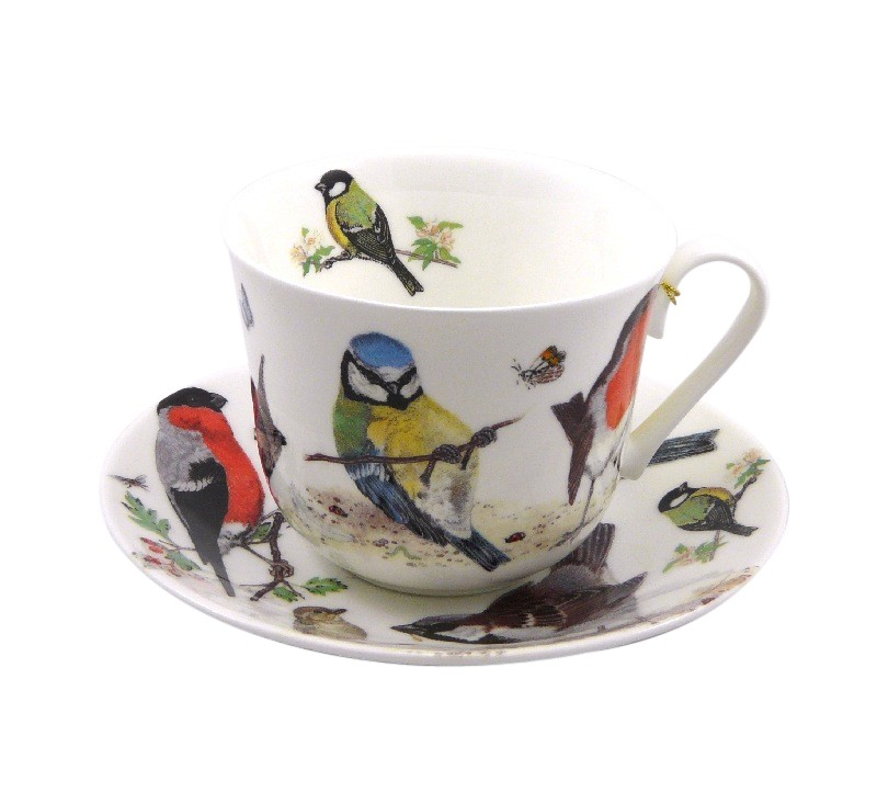 roy kirkham jumbo tasse fine bone china porzellan garden birds ebay. Black Bedroom Furniture Sets. Home Design Ideas