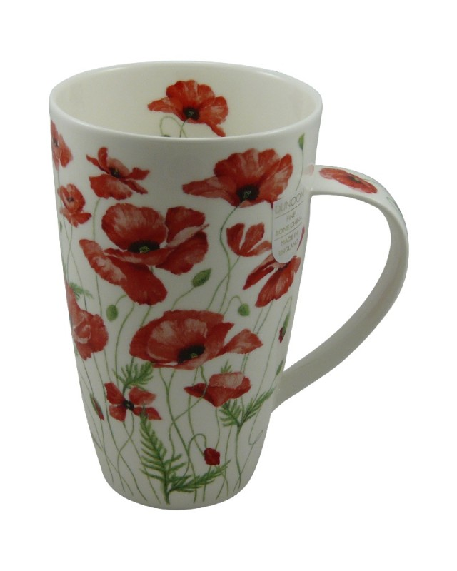 dunoon tasse henley poppies by anne searle rot 600ml. Black Bedroom Furniture Sets. Home Design Ideas